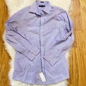 NWT Tommy Hilfiger slim fit lilac dress shirt sz L